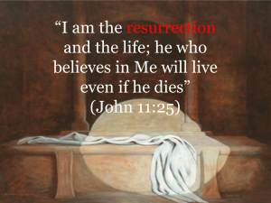 I am the resurrection and the life - square