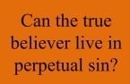 Can the true believer live in perpetual sin