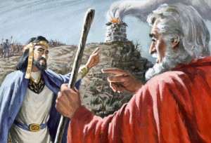 King Saul Offers a Sacrifice