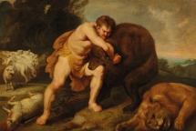 David kills lion and bear