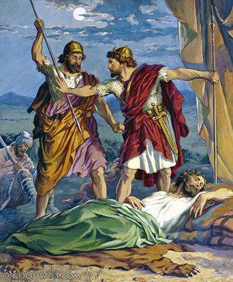 David protects Saul